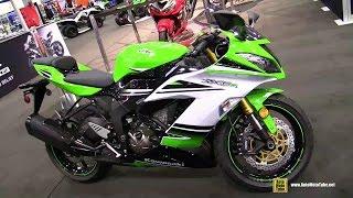8. 2015 Kawasaki Ninja ZX-6R 30th Anniversary Edition - Walkaround - 2014 Toronto Snowmobile & ATV Show