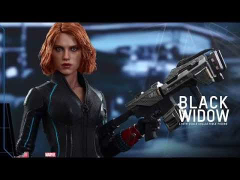 Avengers Age Of Ultron Hot Toys Black Widow 1/6 Scale Movie Figure Pics & Details!