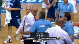 Highlights Montenegro-Bosnia Herzeg.