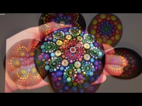 How to paint rock mandalas #5- Rainbows