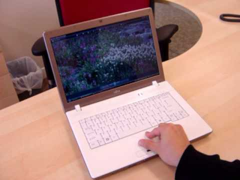 Zooming in and out by Fujitsu L1010 touchpad