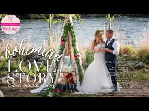 Sacramento Wedding Inspiration: Bohemian Love Story {The Layout} from SF16 issue of Real Weddings