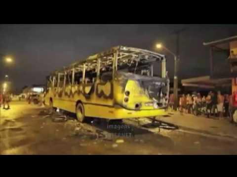 Ônibus foram incediados ontem em São Luís