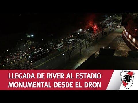 Volver a casa   Mirá la llegada del plantel Millonario al Monumental desde el dron