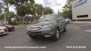 Autoline Preowned 2009 Acura MDX For Sale Used Walk Around Review Jacksonville