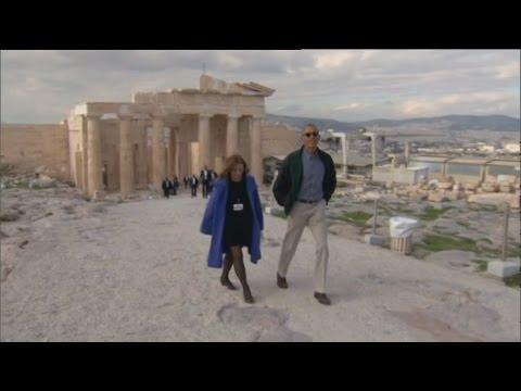 Η ιστορική επίσκεψη του B.Ομπάμα στην Ακρόπολη