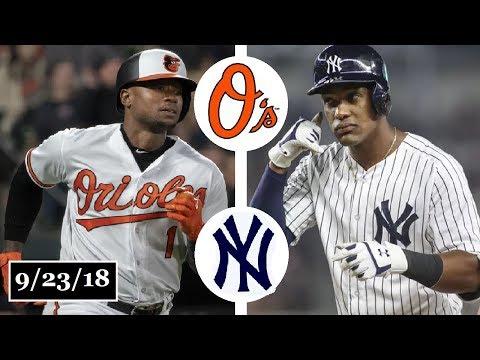 Baltimore Orioles vs New York Yankees Highlights    September 23, 2018