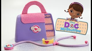 "SUBSCRIBE HERE ~ http://bit.ly/cakestyleCOOL CAKES ~ http://bit.ly/coolcakestyleHi everyone! Today I made a Doc McStuffins medical bag. This is so fun!Follow UsWEBSITEhttp://cake.style/FACEBOOKhttps://www.facebook.com/cakestyletvTWITTERhttps://twitter.com/Cake_StyleINSTAGRAMhttp://instagram.com/cakestyle_PINTERESThttp://www.pinterest.com/cakestyletv/Materials•  9"" x 13"" slab cake at 1 1/4"" height - http://cake.style/2016/03/01/vanilla-cake/•  1.2kg Sweet Buttercream - http://cake.style/2016/03/01/sweet-buttercream/• 750g fondant -Wilton Violet and touch of Americolor Electric Pink • 1/2 batch Modelling chocolate - http://cake.style/2016/04/30/modelling-chocolate/• Gel food colors used   - Purple  - 2 parts Wilton Violet and 1 part Americolor Electric Pink    - Yellow - Americolor Lemon Yellow   - Pink - Sugarflair Ruby and Americolor Electric Pick   - Tan - Americolor Warm Brown, Wilton Ivory and a touch of Americolor Super Black   - Blue - Americolor Electric Blue   - Green - Americolor Forest Green and Americolor Leaf Green• Pink Edible sanding sugar• 1/2 slab cake board• Water• Small spatula - http://amzn.to/1Vtq19X• Turntable - Ikea• Bread Knife - http://amzn.to/1qXhtew• Small rolling pin - http://amzn.to/1Slg8Ku• Large rolling pin - http://amzn.to/1YARC6x• Cornflour/ Cornstarch• Exacto knife - http://amzn.to/22BXAFk• Scraper - http://amzn.to/1Tc5ocs• Pizza cutter - http://amzn.to/1r5FyA4• Paint brush• Toothpick"