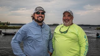 Jamie Horton and Matt Arey with the rundown on day one of practice for the Forrest Wood Cup on Lake Murray.