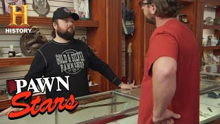 Pawn Stars: Chumlee and Corey Bet on the Price of a Knife (Season 16) | History