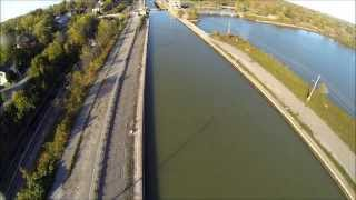 Thorold (ON) Canada  city photos gallery : The Twin Flight Locks in Thorold. Ontario. Canada.