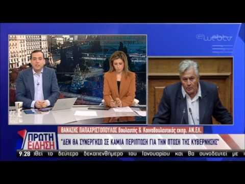 Θ. Παπαχριστόπουλος: Δεν θα ψηφίσω πρόταση δυσπιστίας | 07/01/19 | ΕΡΤ