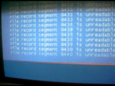Xp Error Video (why many projects were lost)