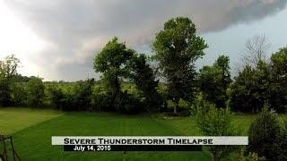 Severe Thunderstorm Timelapse - July 14, 2015