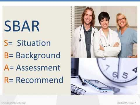 SBAR: Good Communication Basics