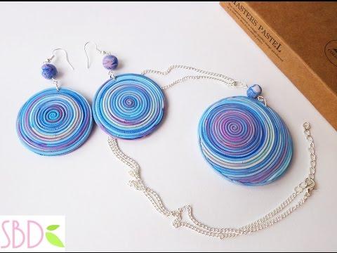 fimo – gioielli a spirale