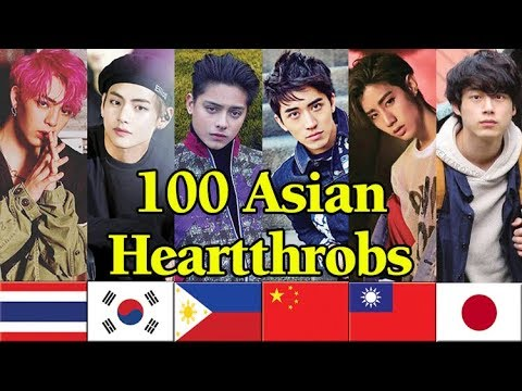 100 Asian Heartthrobs Of 2018 - V Of Bts Is The Winner!