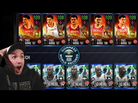 SETTING WORLD RECORDS WITH THE TALLEST TEAM IN NBA LIVE MOBILE HISTORY