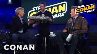 Jordan Schlansky Asks Harrison Ford To Sign His Millennium Falcon  - CONAN on TBS
