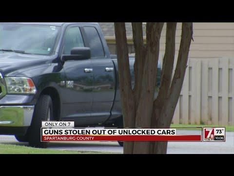 Unlocked cars lead to stolen guns