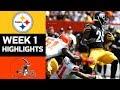 Steelers vs Browns | NFL Week 1 Game Highlights