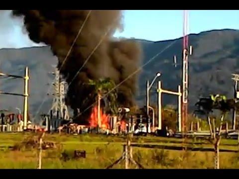 Técnicos analisam causa de incêndio em transformador da Elektro