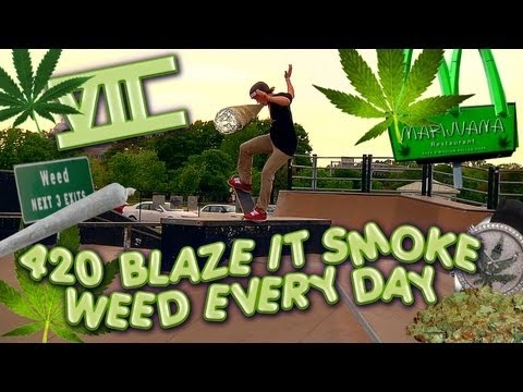 ◤420 BLAZE IT SMOKE WEED EVERY DAY - MT TRASHMORE SKATE PARK // viiordie.com