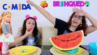 COMIDA VS BRINQUEDOS DA MINHA BONECA OUR GENERATION | Luluca