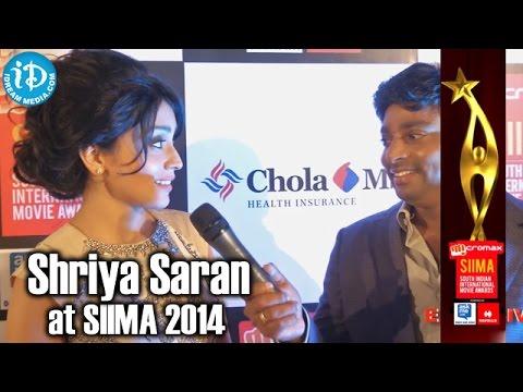 Actress Shriya Saran about Tamil Audience @ SIIMA 2014, Malaysia