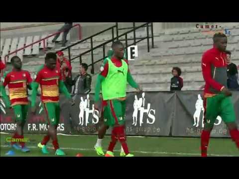 Echauffement d'avant la rencontre Cameroun-Guinée