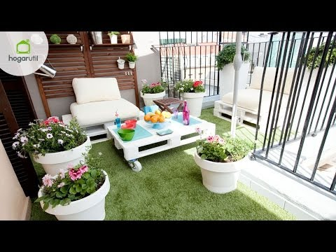 Decoracion terrazas palets videos videos relacionados - Decoracion de jardines con palets ...