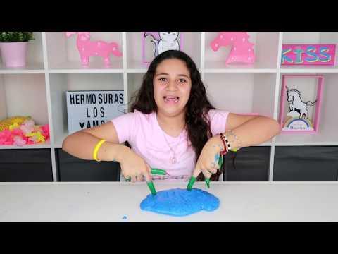 Videos de uñas - Slime con UÑAS Extremadamente LARGAS XXL. Slime challenge Halloween
