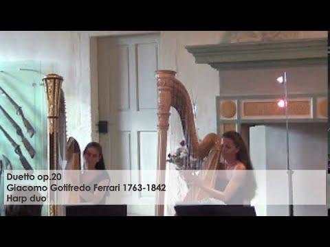 Giacomo Gotifredo Ferrari Duetto op.20 Harp duo Silke Aichhorn- Regine Kofler