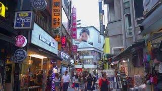 [Walking tour 漫步遊] Street scene Myeongdong  Seoul S Korea 南韓 首爾 明洞 購物區