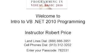 Robert Price   ICIS 145 Intro to Visual Basic Net Programming 11082012