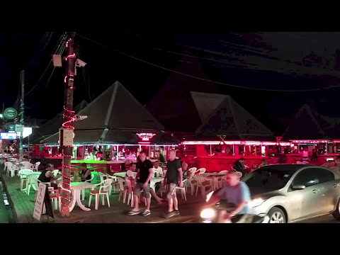 Lamai beach Variety Bars nightlife area on Koh Samui 2014. 苏梅岛的夜生活 サムイナイトライフ
