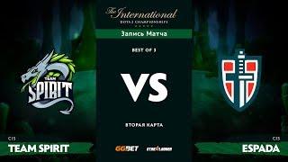 Team Spirit против Espada, Вторая карта, TI8 Региональная СНГ Квалификация