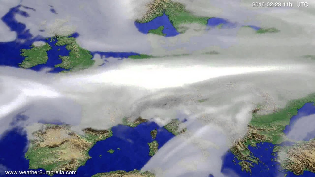 Cloud forecast Europe 2016-02-20