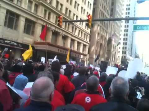 UAW Rally in Detroit