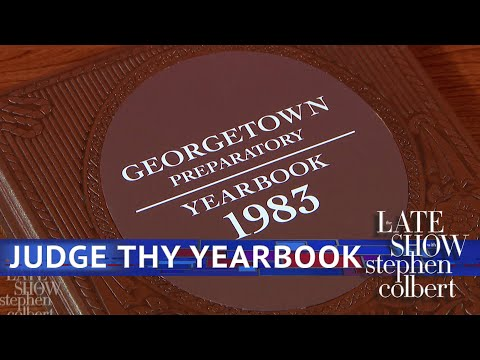 The Late Show Has Kavanaugh's High School Yearbook