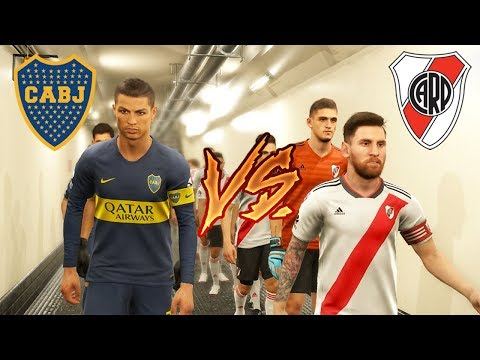 What IF Ronaldo Played For Boca Juniors, Messi Played For River Plate ? PES 2019