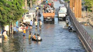 Bangkok Residents Battle With Floods