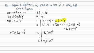 Intermediate Algebra - Exponential Functions: Creating from Applications
