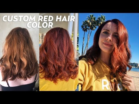 My Custom Red Hair Color with Joico LumiShine!