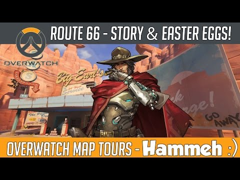 Overwatch - Route 66 Map Story, Lore and Easter Eggs! | Hammeh