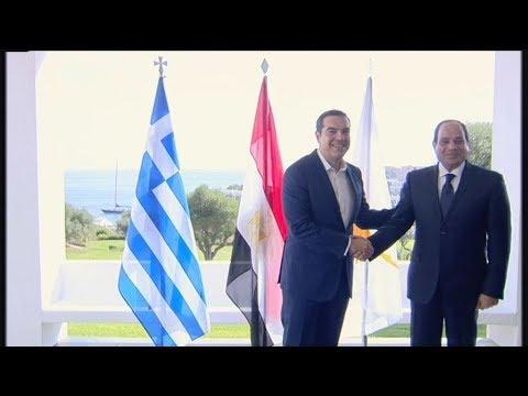 Συνάντηση του Πρωθυπουργού Αλέξη Τσίπρα με τον Πρ. της Δημοκρατίας της Αιγύπτου  Ελ-Σίσι