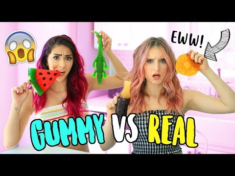 Video GUMMY VS REAL FOOD CHALLENGE!! download in MP3, 3GP, MP4, WEBM, AVI, FLV January 2017