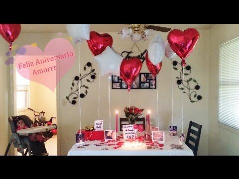 Arreglo globos 14 febrero videos videos relacionados - Detalles para cena romantica ...