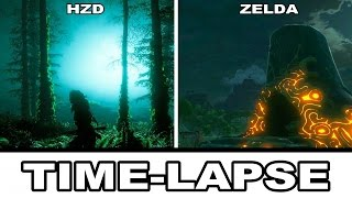 Horizon Zero Dawn vs. The Legend Of Zelda: Breath Of The Wild - Time-Lapse ComparisonLIKE THIS VIDEO & SUBSCRIBE