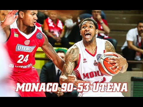 BCL — Monaco 90 - 53 Utena — Highlights